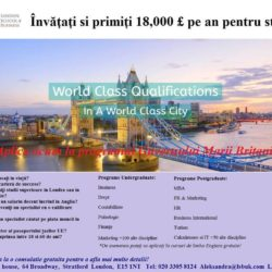 Studii gratuite in UK - Universitati Student Finance