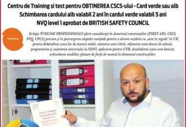 Tudcom Londra - CSCS Card alb in verde