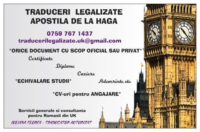 Traduceri legalizate - Apostila Haga