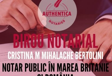 Birou notarial Authentica Notaries - Londra