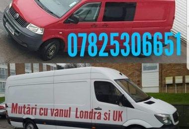 Mutari cu vanul in Londra - UK si Romania
