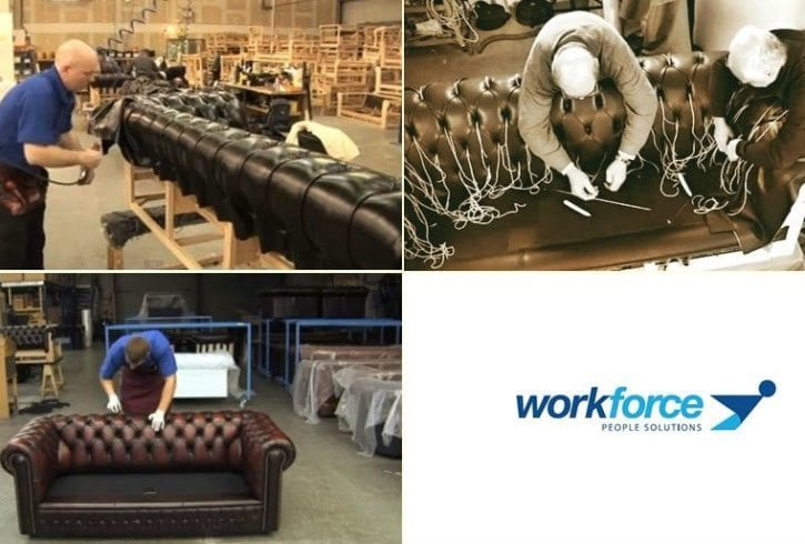 Tapiteri in fabrici UK - Workforce People Solutions