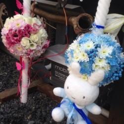 Lumanari botez, nunta, aranjamente florale