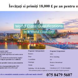 STUDIAZA LA UNIVERSITATE IN UK SI PRIMESTE FINANTARE PENTRU STUDII SI TRAI!