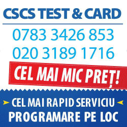 CSCS TEST/CARD - LABOURER CARD 5 ANI IN ACEASI ZI CONT BANCAR