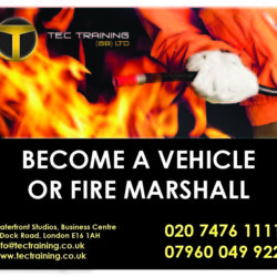 TRAFFIC MARSHALL | FIRE MARSHALL | FIRST AID =£150.00