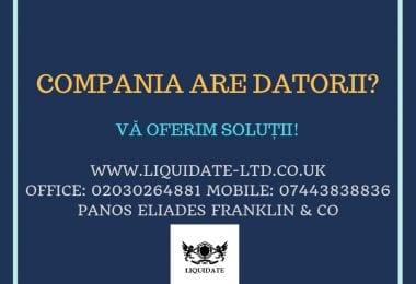 Insolventa companie si/sau insolventa personala in UK