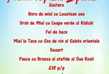 Restaurant Roxy's Bistro ofera meniu special de Paste Bournemout BH8