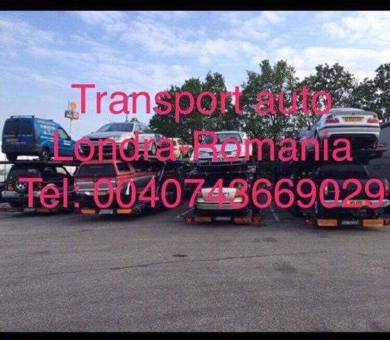 Transport auto pe platforma Londra-Romania
