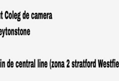 Caut coleg de camera zona 2 Stratford