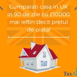 Casa in UK in 90 de zile cu £10000 mai ieftin decit pretul de piata!
