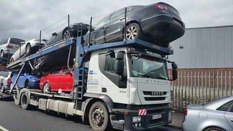 Transport masini pe platforma Anglia Romania