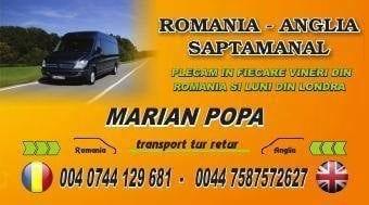 Marian Popa - Transport saptamanal Londra - Iasi