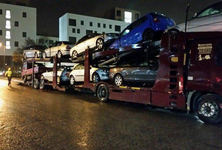 Servicii de transport masini pe platforma