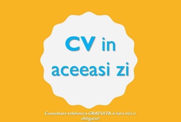 CV in acceasi zi