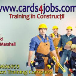 Certificate si card-uri pentru job-uri in domeniul constructiilor