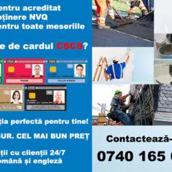Card CSCS - NVQ pentru toate meseriile
