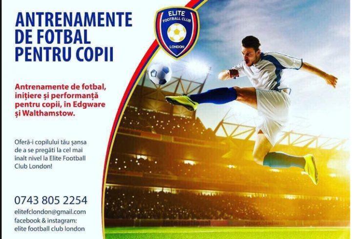 Recrutam ANTRENORI de fotbal - Elite Football Club London