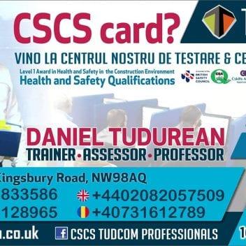 Card CSCS - NVQ pentru toate meseriile - Tudcom