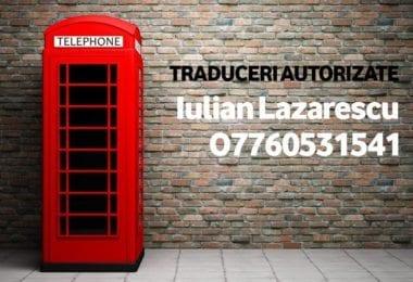 Traduceri autorizate - Iulian Lazarescu